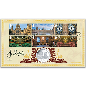 2020 Palace of Westminster Stamps Coin Cover Signed Jon Snow
