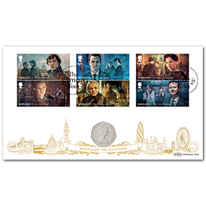 2020 Sherlock Stamps Coin Cover