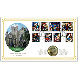 2020 Christmas Stamps Coin Cover