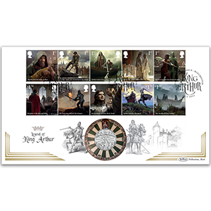 2021 Legend of King Arthur Stamps Coin Cover