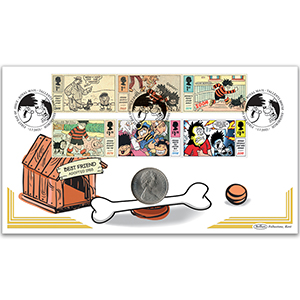 2021 Dennis and Gnasher Stamps Coin Cover