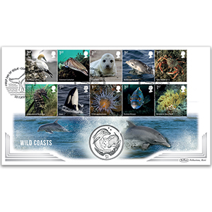 2021 Wild Coasts Stamps Coin Cover