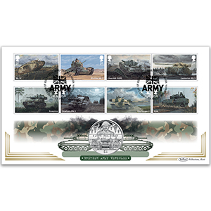 2021 British Army Vehicles Stamps Coin Cover