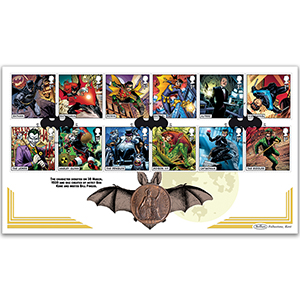 2021 DC Collection Stamps Coin Cover