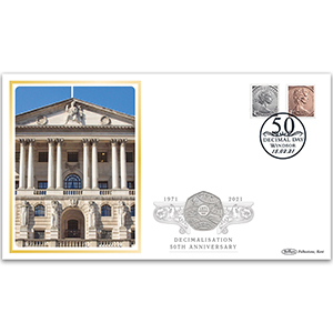 50th Anniversary of Decimal Day Special Coin Cover