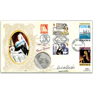 1997 Queen Victoria - Signed by Annette Crosbie - Silver crown
