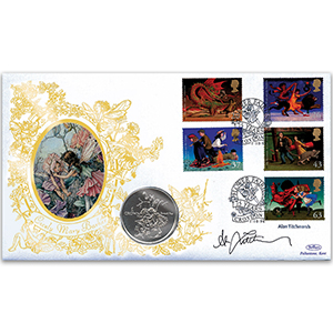 1998 Magical Worlds Coin Cover - Signed by Alan Titchmarsh