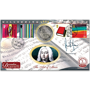 1999 Artists' Tale: Handel Coin Cover - Signed by Sir Neville Marriner