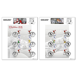 2016 Christmas Generic Sheet Large Cards Pair