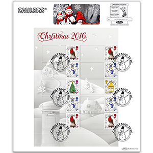 2016 Christmas Generic Sheet Large Card - LEFT Hand