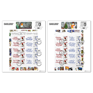 2016 50 Years of Christmas Generic Sheet Large Cards Pair