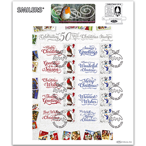 2016 50 Years of Christmas Generic Sheet Large Card - LEFT Hand