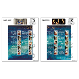 2017 Christmas Generic Sheet Large Cards - Pair