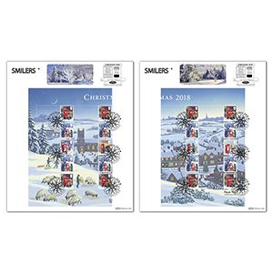 2018 Christmas Generic Sheet Pair of Large Cards