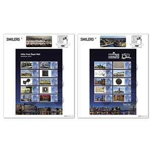 2019 Stockholmia Exhibition Sheet Pair of Large Cards