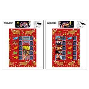 2020 Year of the Ox Generic Sheet Large Cards Pair