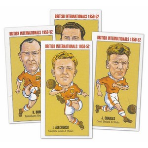 British Soccer Internationals 1950-52 (PN1) Set of 20 cards