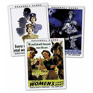 WWII Posters The Services - Large (RC149) Set of 10 cards