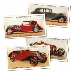 Motor Cars 'A' Series Reproduction Set of 50 cards
