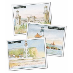 American Lighthouses Reproduction Set of 50 cards