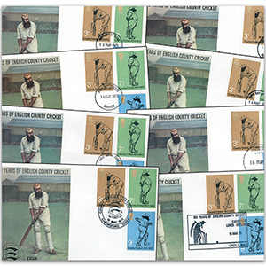1973 100 Years of English County Cricket Covers (18)