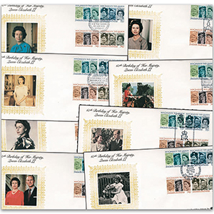 1986 HM The Queen's 60th Set of 18 Covers