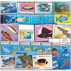 Thematic Fish collection (140 stamps/5 mini sheet)