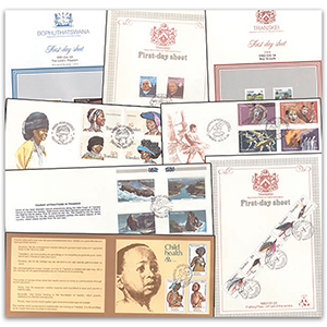 Transkei F.D.C. collection - 10 covers