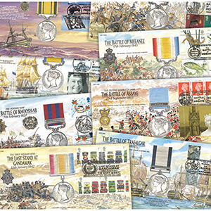 18 Flown Medal Covers