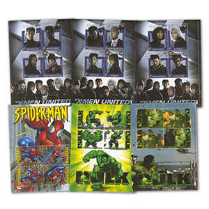 6 Marvel Stamp Sheets