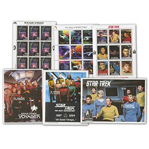 Star Trek Stamp Collection