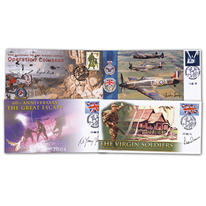 6 Signed Military Anniversaries Covers