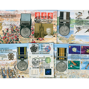 15 Benham War Medal Covers