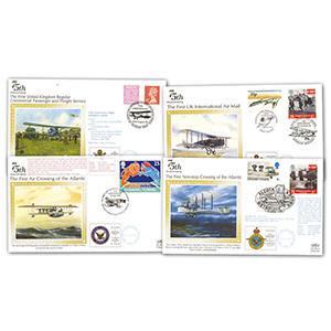 10 x 75th Anniversary of First Flight Covers