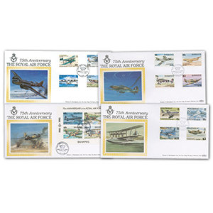 6 RAF 75th Anniversary Covers