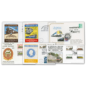 7 Commemorative Rail Covers (Non-Benham)