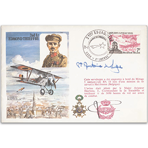 1987 2nd Lt. Thieffry - Signed by the late Prince Antoine de Ligne