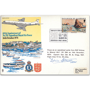 1974 No.201 Squadron 60th - Signed by MRAF Sir Denis Spotswood