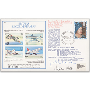 1981 Britain's Record Breakers - Flown - Signed by Judith Chisolm and Julian Nott