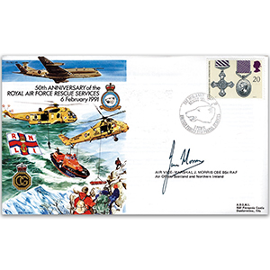 1991 RAF Rescue Services 50th - Signed by AVM J Morris CBE