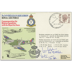 1975 No.349 Belgian Squadron - Signed Colqul & Hennessy