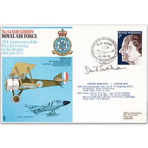 1973 No. 54 Squadron - Signed AVM David Scott-Malden