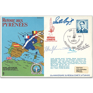 1972 RAFES Pyrenees - Signed by 4