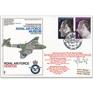 1972 RAF Hendon Signed Grp.Cpt. Wilson