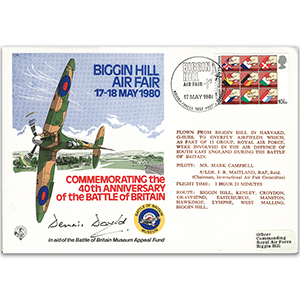 1980 Biggin Hill Air Fair - Signed D.David DFC