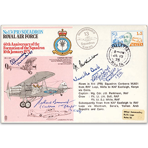 1975 No. 13 Sqn - Signed Duke, Beaumont and 3 others