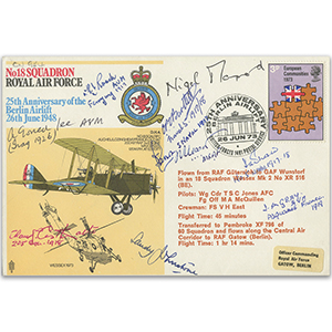 1973 No.18 Squadron - 25th Anniversary of the Berlin Airlift - Signed
