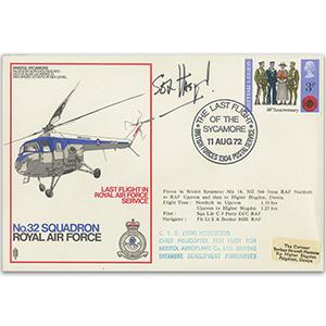 1972 Bristol Sycamore Last Flight - Signed Sox Hosegood