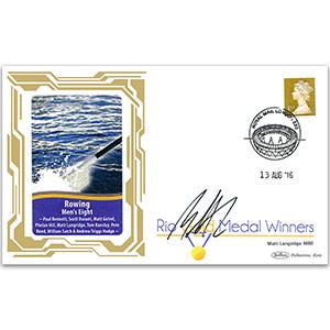 2016 Gold Medal Winners - Rowing - Mens Eight - Signed Matt Langridge MBE
