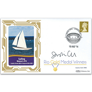 2016 Gold Medal Winners - Sailing - Womens 470 - Signed by Saskia Clark MBE